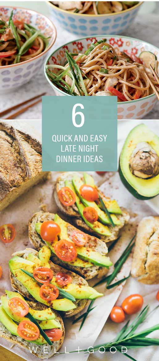 6 quick and easy late-night dinner ideas from healthy foodies