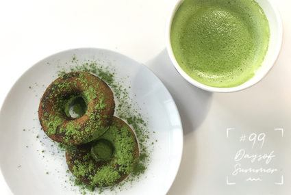These spirulina-matcha donuts are what weekend dreams are made of