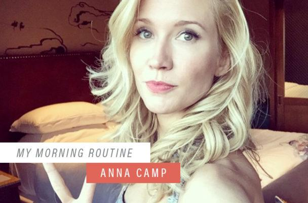 How to be in a better mood instantly when you wake up, according to Anna Camp