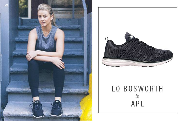 Lo Bosworth black sneakers