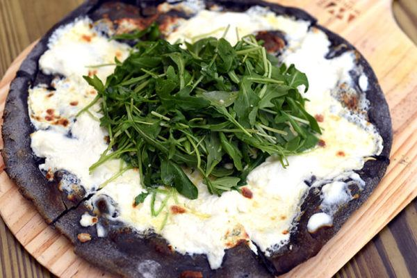 Move over, cauliflower crust: The charcoal pizza has arrived