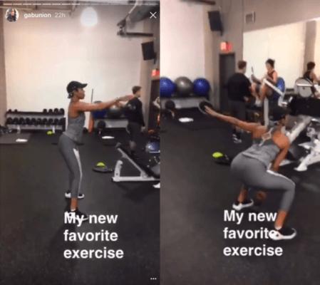 gabrielle union butt workout