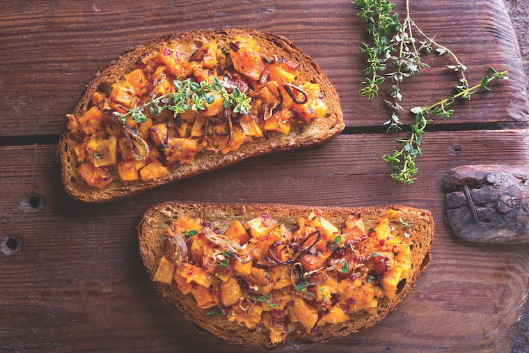 simple-green-suppers_roasted-butternut-smash-whole-wheat-toast