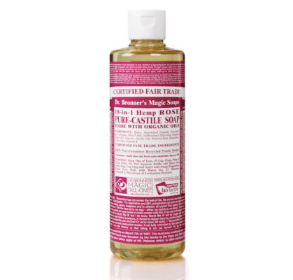 dr bronner's rose castile soap