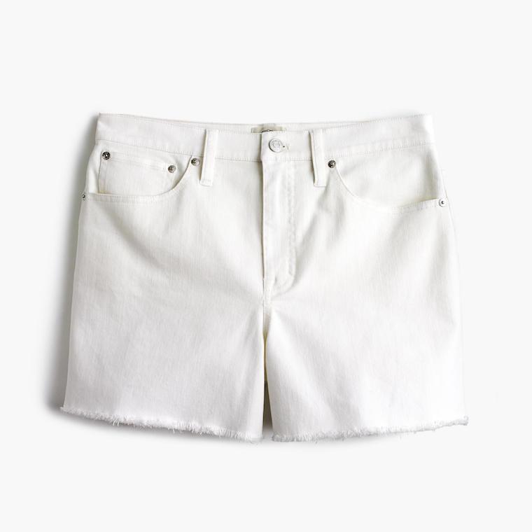 J.Crew High-rise jean shorts