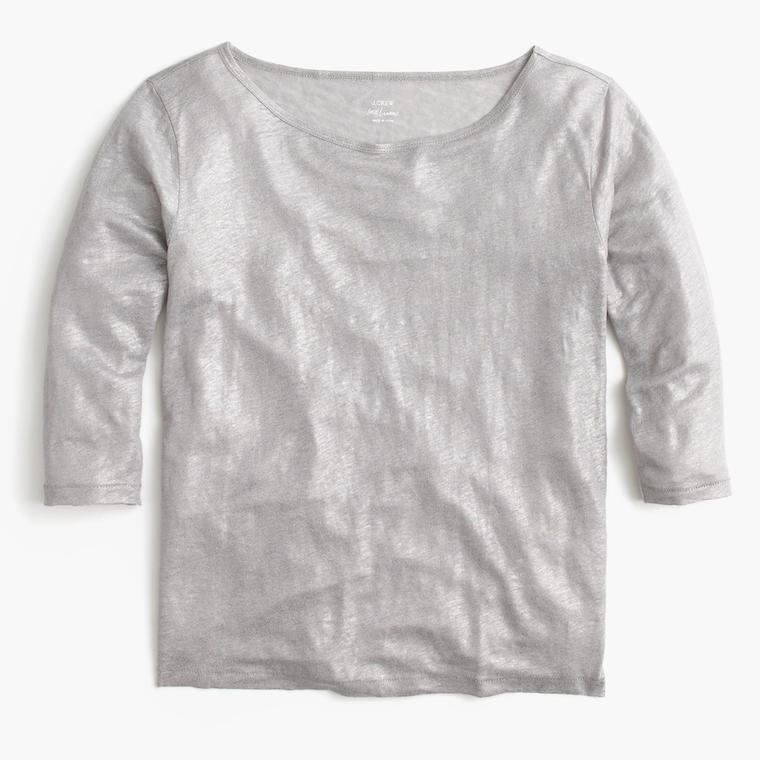 J.Crew Linen Boat Neck Shirt