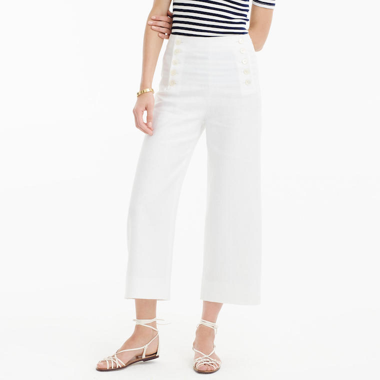 J.Crew linen sailor pants
