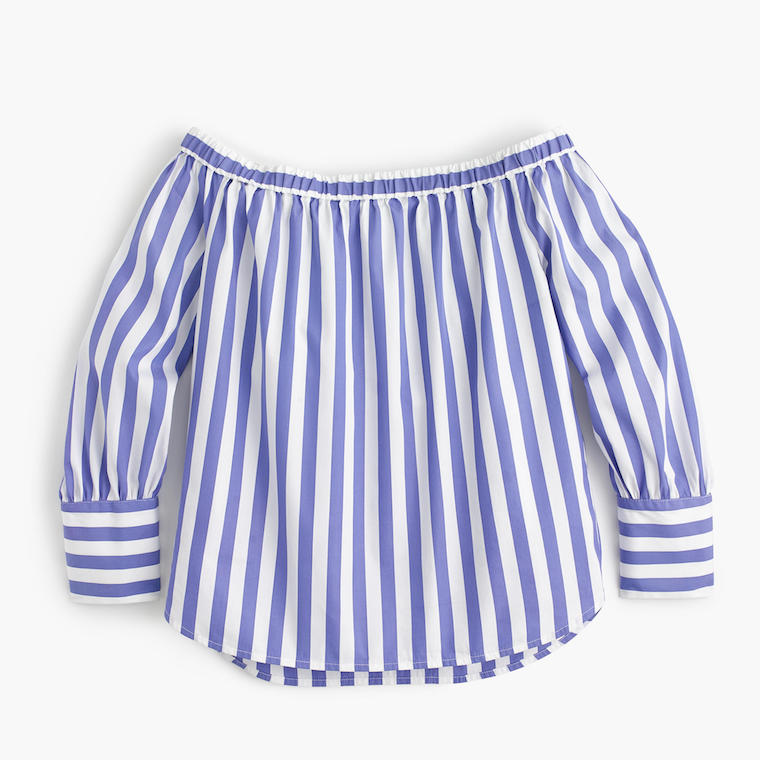 J.Crew off-the-shoulder striped top