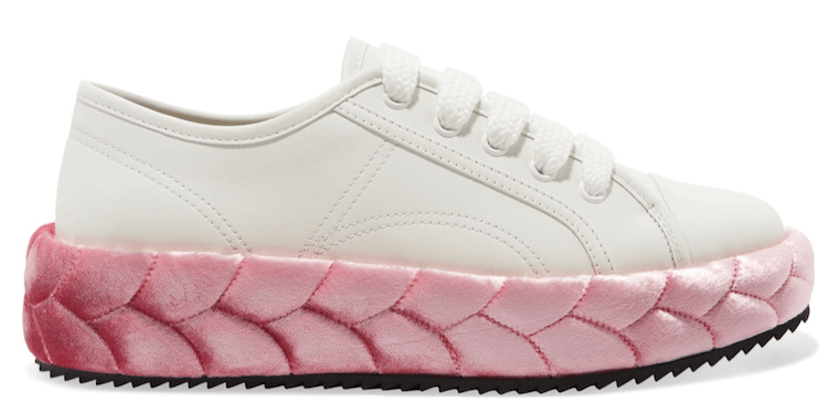 marco-de-vincenzo-platform-leather-velvet-sneaker