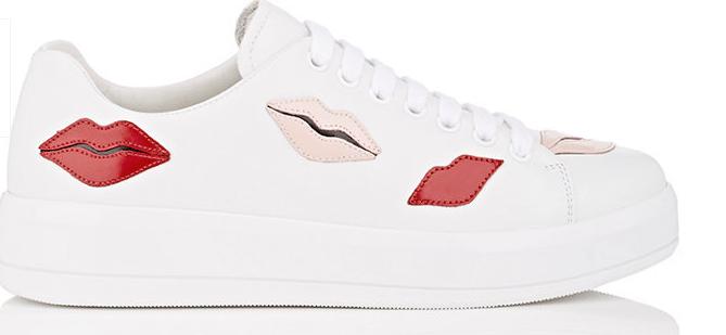 prada-lip-applique-leather-sneakers