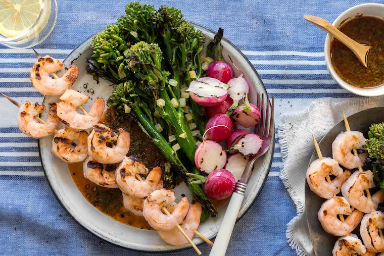 sun basket recipes lean and clean grilled shrimp
