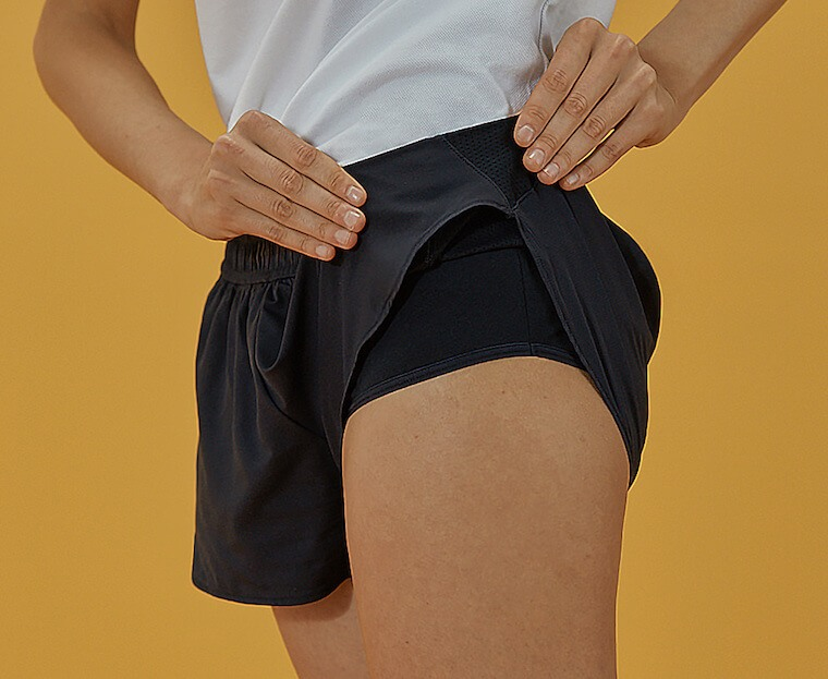 Thinx period proof workout shorts