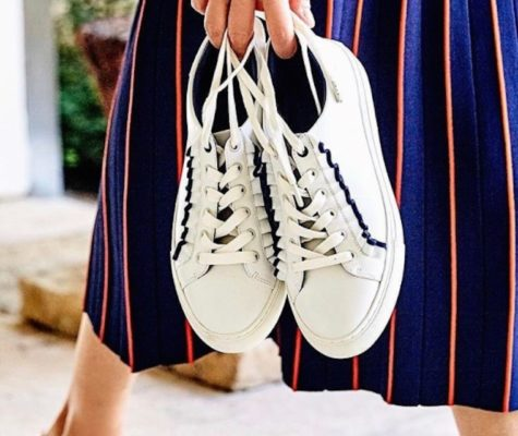 The girly sneaker is having a moment