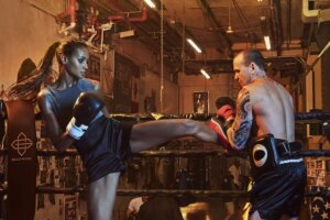 Why this Victoria's Secret model loves working out like a cage fighter