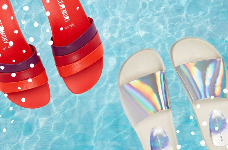 Chic shower slides you'll want to wear everywhere