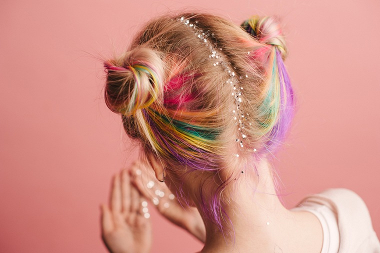 Thumbnail for This is how to get unicorn hair (without permanently changing your hair color)