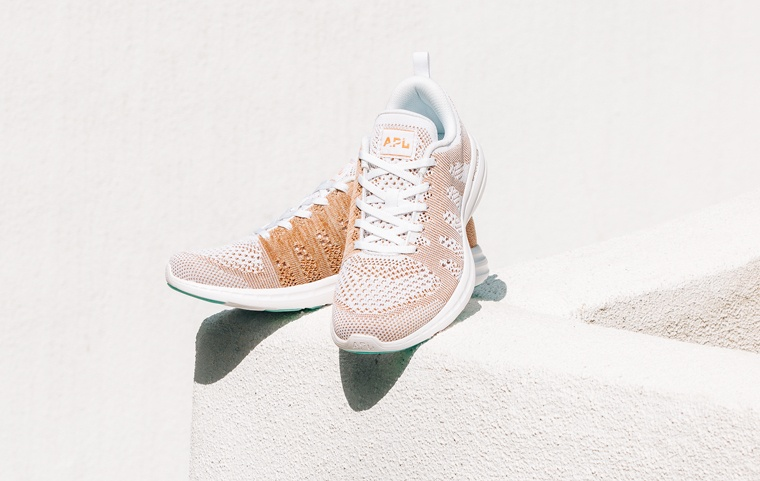 apl-white-rose-gold-melange-sneaker