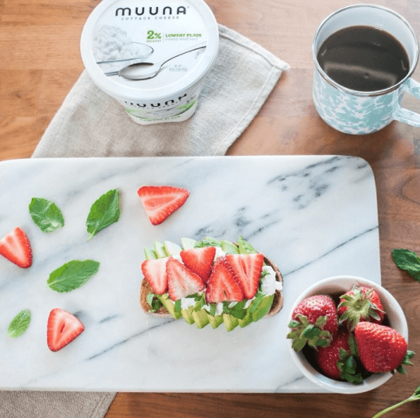 muuna strawberry mint avocado toast
