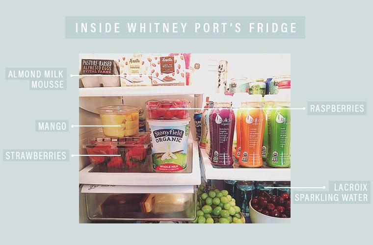 Whitney Port's fridge