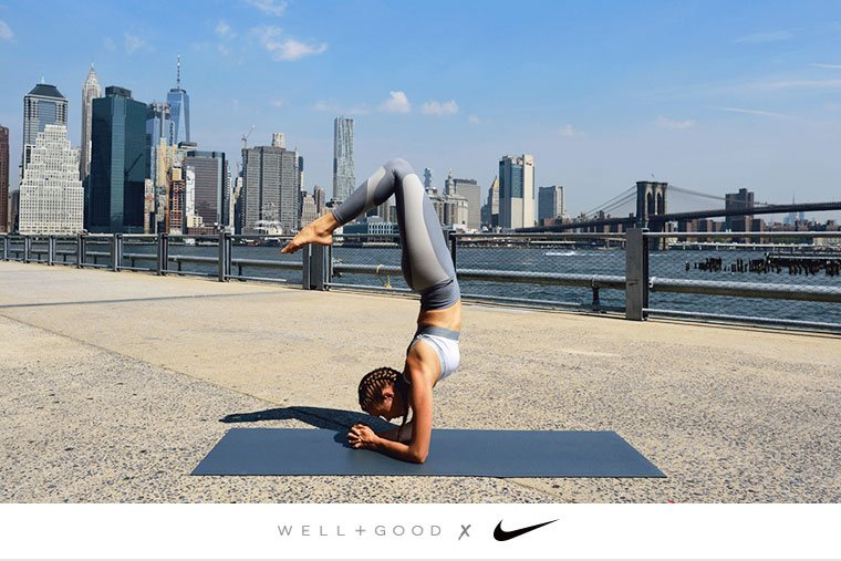Thumbnail for How to do yoga everywhere—and the sports bra you need to pull it off