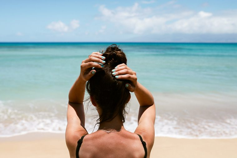Thumbnail for 3 genius (and super-easy) ways to protect your hair this summer