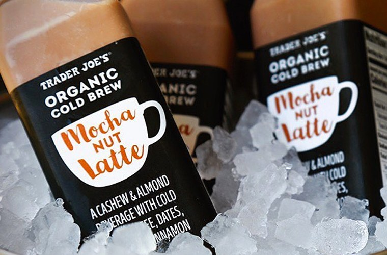 Trader Joe's not makes Vegan Nut Milk Lattes