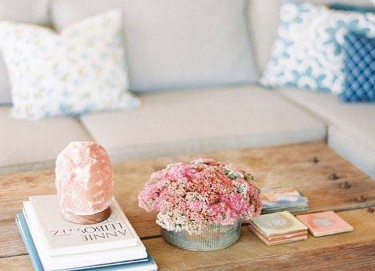 How To Decorate With A Himalayan Pink Salt Lamp Well Good