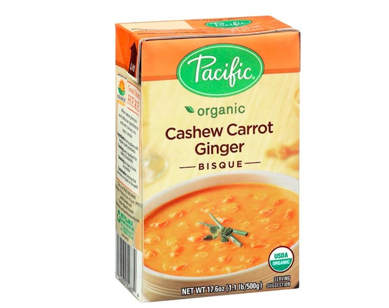 Pacific Foods Organic Cashew Carrot Ginger