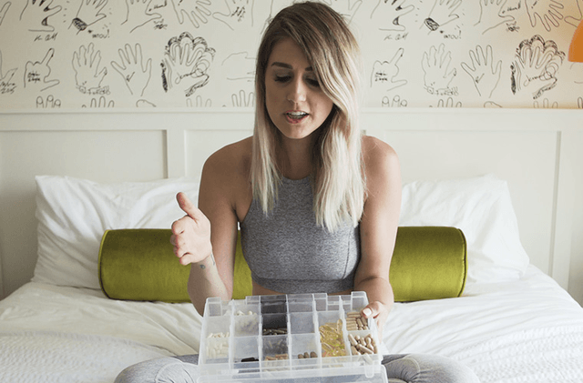 This genius packing hack ensures supplements don't take up your whole suitcase