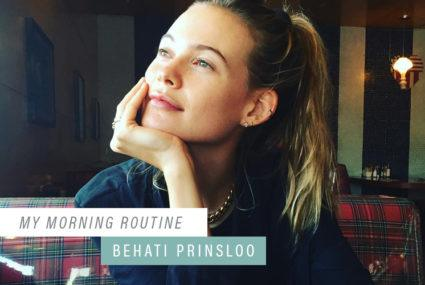 Why supermodel Behati Prinsloo always works out in the morning