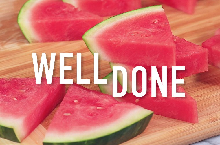 how to cut watermelon pineapple veggies
