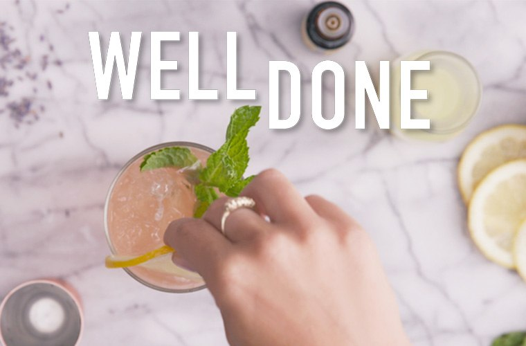 Try your hand at botanical cocktail making with this lavender-infused Tom Collins