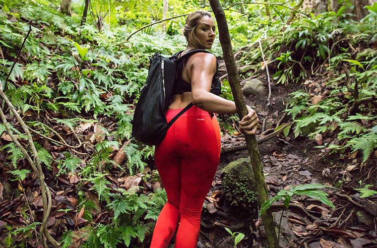 Chinae Alexander in woods
