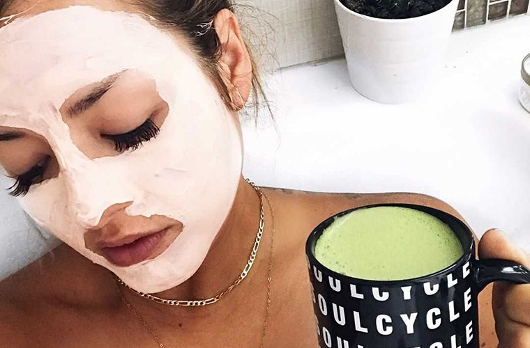 Chinae Alexander face mask soulcycle mug