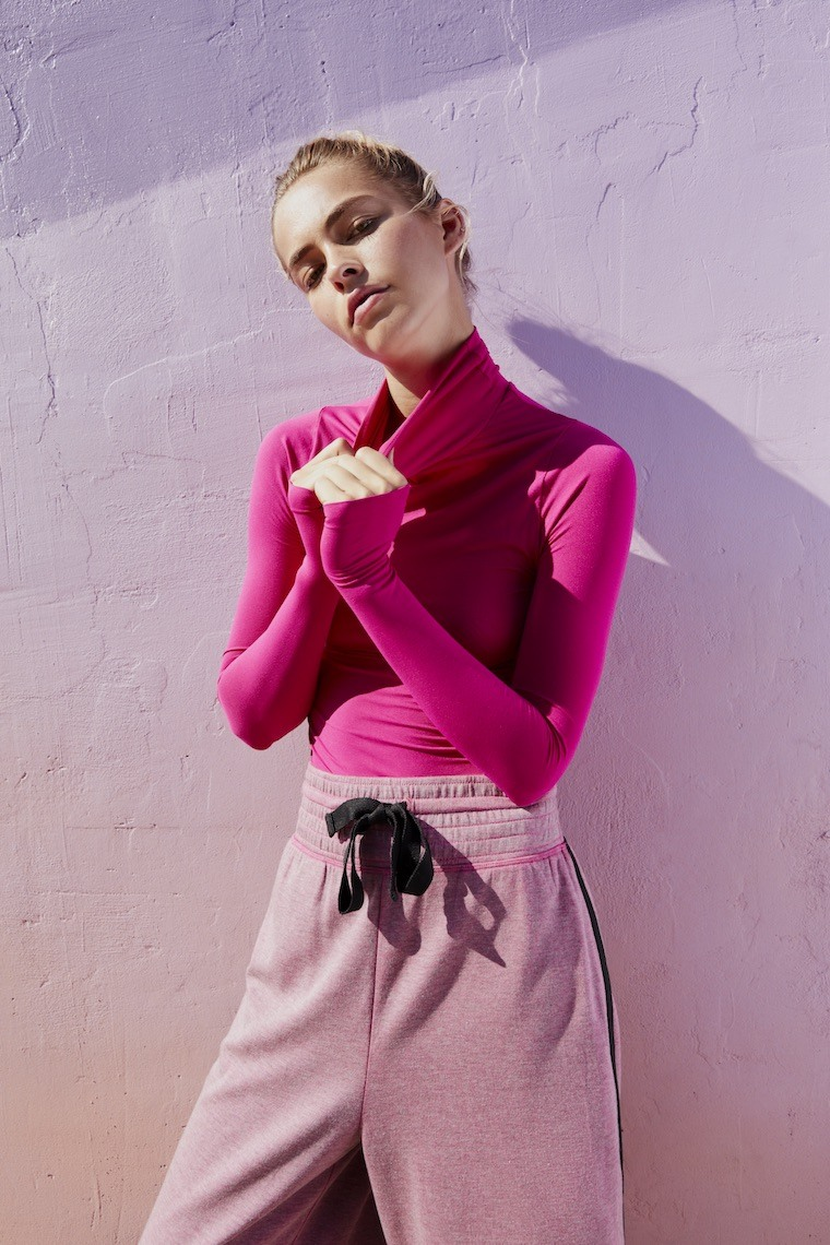 pink mood boosting workout athleisure