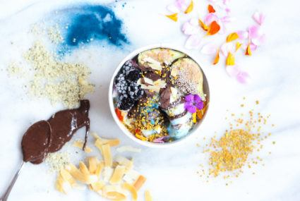 This new plant-based soft-serve yogurt brand will top your bowl with CBD and bee pollen