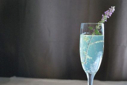 This lavender-infused blue sparkling water wants you to relax