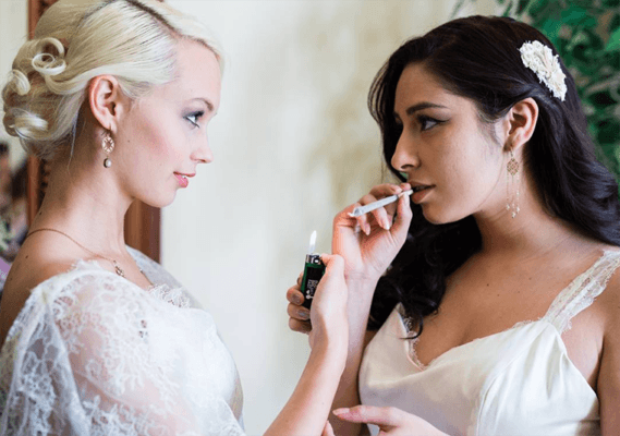 Forget barns and burlap—the latest wedding trend is…weed?
