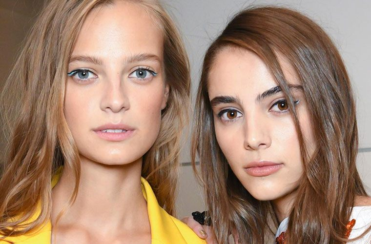 Thumbnail for Add mood-boosting color to your cat eye with this genius idea from NYFW