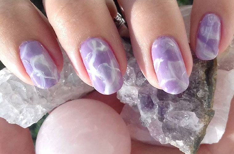 Thumbnail for 6 Dreamy Crystal Nail Art Looks for Healing Vibes at Your Fingertips