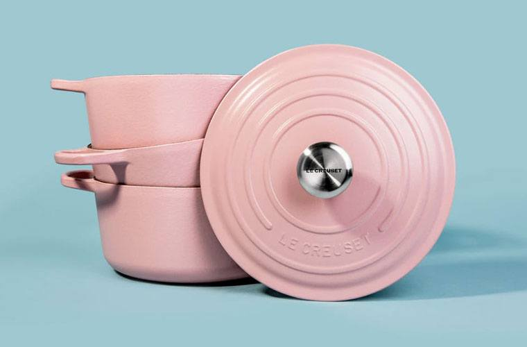 Thumbnail for Le Creuset's new collection will color your kitchen millennial pink