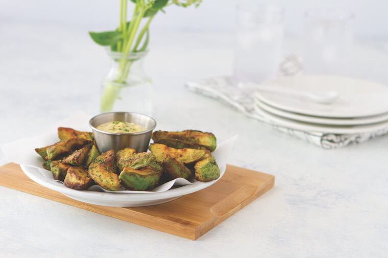 This recipe for ketogenic avocado fries gets a boost from apple cider vinegar