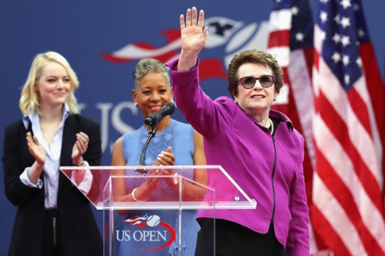 Billie Jean King at the U.S. Open in 2017