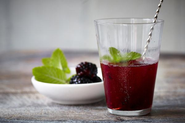 Blackberries add an antioxidant boost to this late-summer cocktail