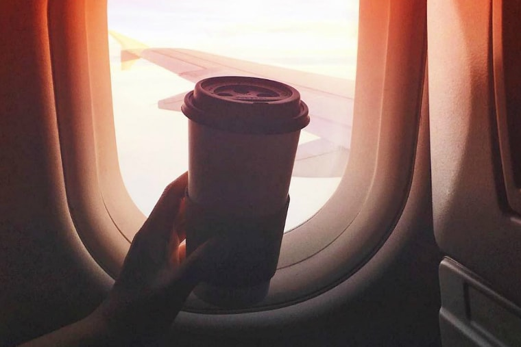 is it safe to drink coffee on planes?