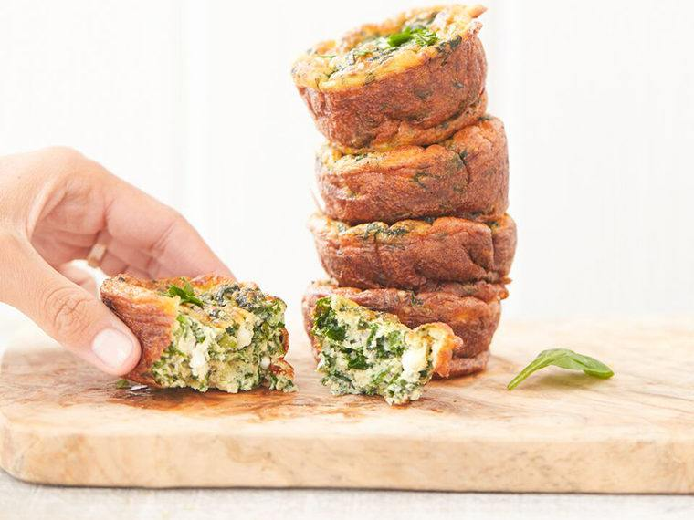 These gluten-free spinach muffins are loaded with protein and probiotics