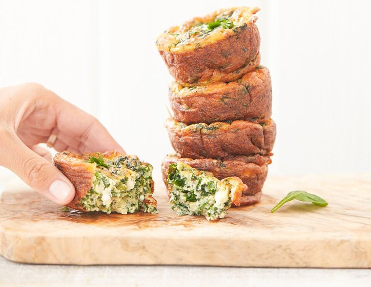 Thumbnail for These gluten-free spinach muffins are loaded with protein and probiotics