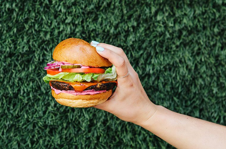 Thumbnail for This Vegan Burger Is Brilliantly Upcycled From Juice Pulp