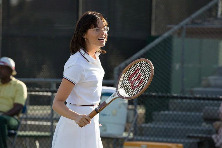 Emma Stone worked out for Battle of the Sexes.