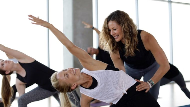 yogaworks beginner yoga class